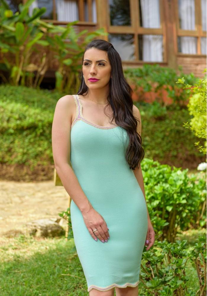 Vestido Kin Verde Agua